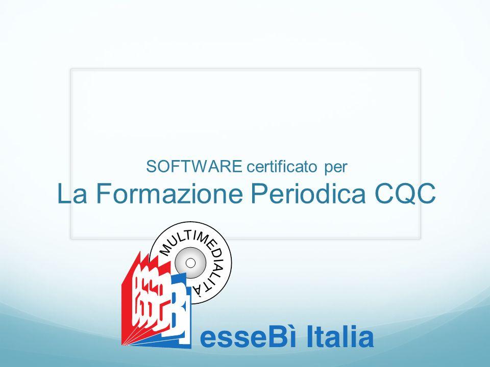 SOFTWARE certificato per La Formazione Periodica CQC