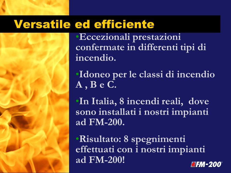 Versatile ed efficiente Eccezionali prestazioni confermate in differenti tipi di incendio. Idoneo per le classi di incendio A, B e C. In Italia, 8 inc