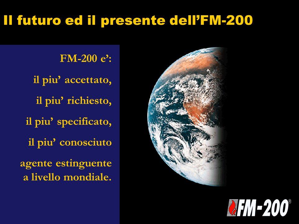Il futuro ed il presente dellFM-200 FM-200 e: il piu accettato, il piu richiesto, il piu specificato, il piu conosciuto agente estinguente a livello m