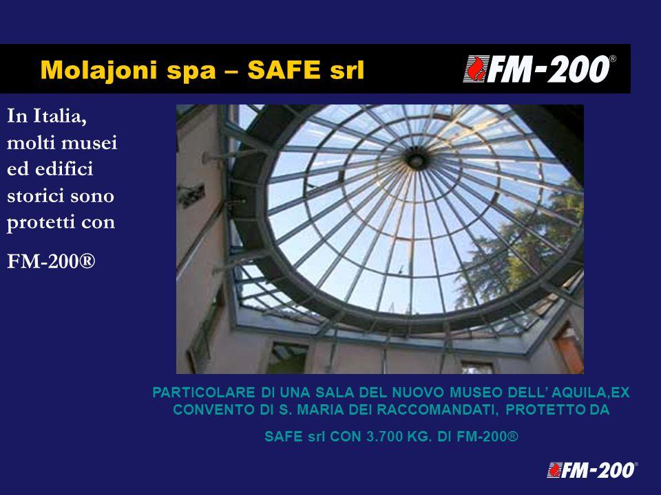 Molajoni spa – SAFE srl In Italia, molti musei ed edifici storici sono protetti con FM-200® PARTICOLARE DI UNA SALA DEL NUOVO MUSEO DELL AQUILA,EX CON