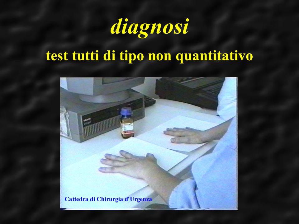 diagnosi test tutti di tipo non quantitativo