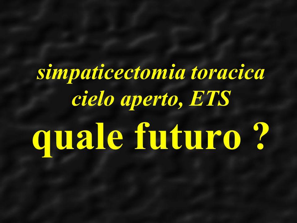 simpaticectomia toracica cielo aperto, ETS quale futuro ?