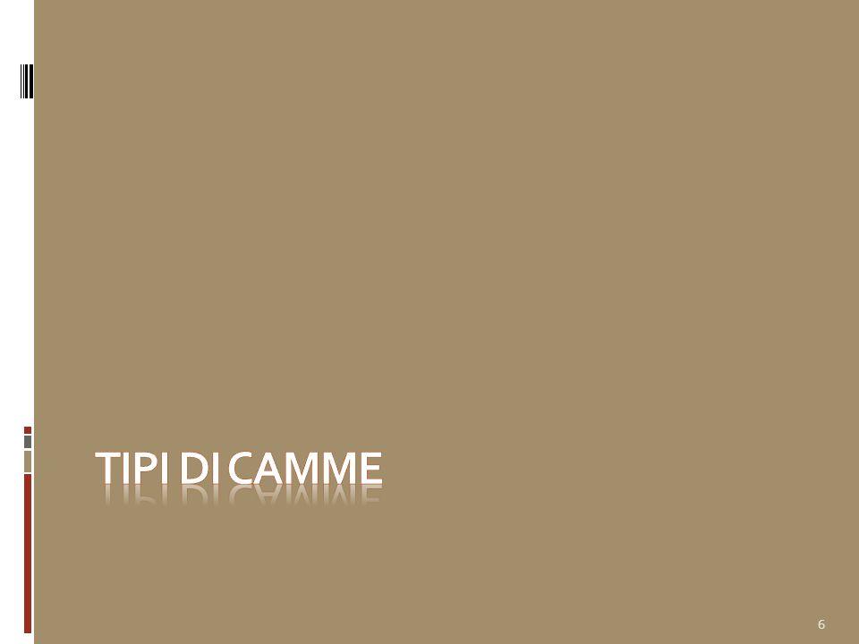 Tipologie di camme Su x-camme sono già previste i tipi di camme più classici piane (a disco, radiali) a bilanciere con rullino o piattello, a punteria: a coltello o a rotella, centrata o deviata a piattello cilindriche (a verme, spaziali, assiali) a punteria: a coltello o rotella a bilanciere (camme e intermittori) globoidali piane traslanti 7