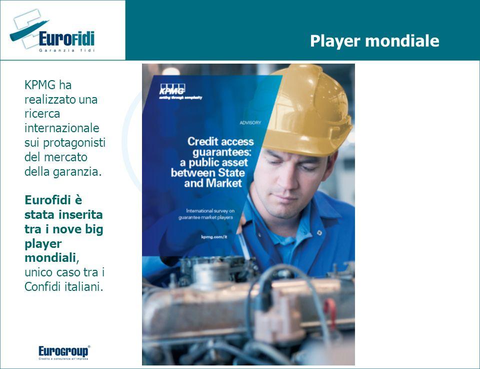 Player mondiale KPMG ha realizzato una ricerca internazionale sui protagonisti del mercato della garanzia. Eurofidi è stata inserita tra i nove big pl
