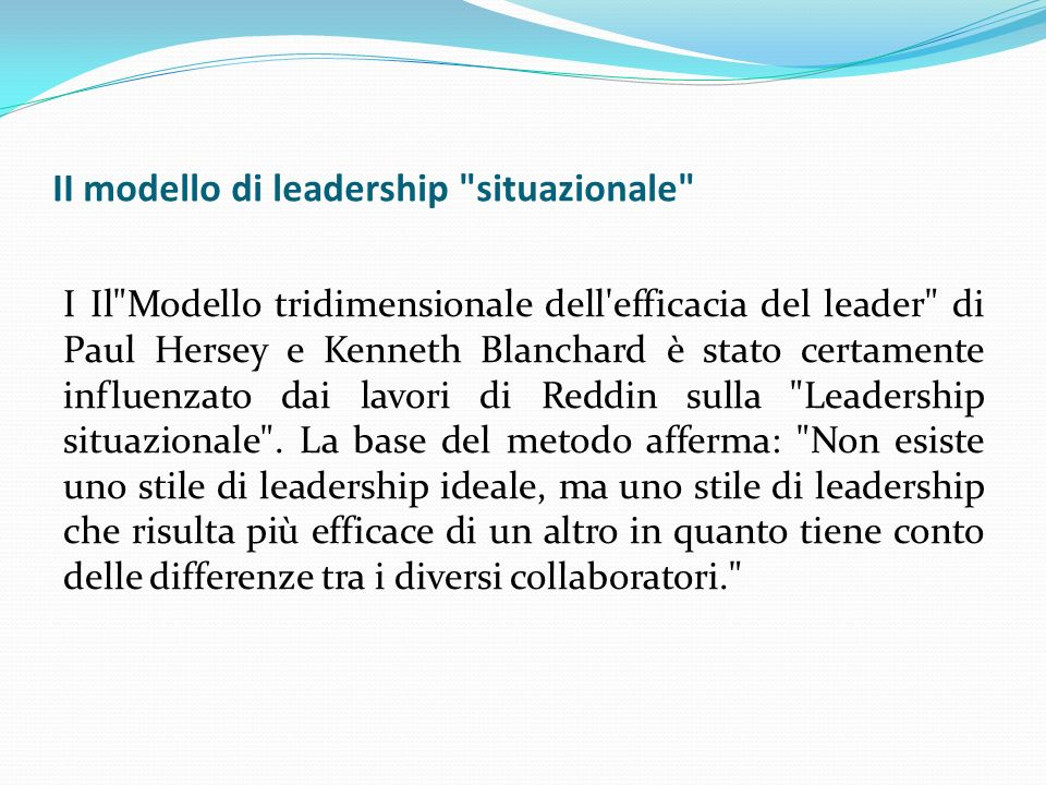 II modello di leadership