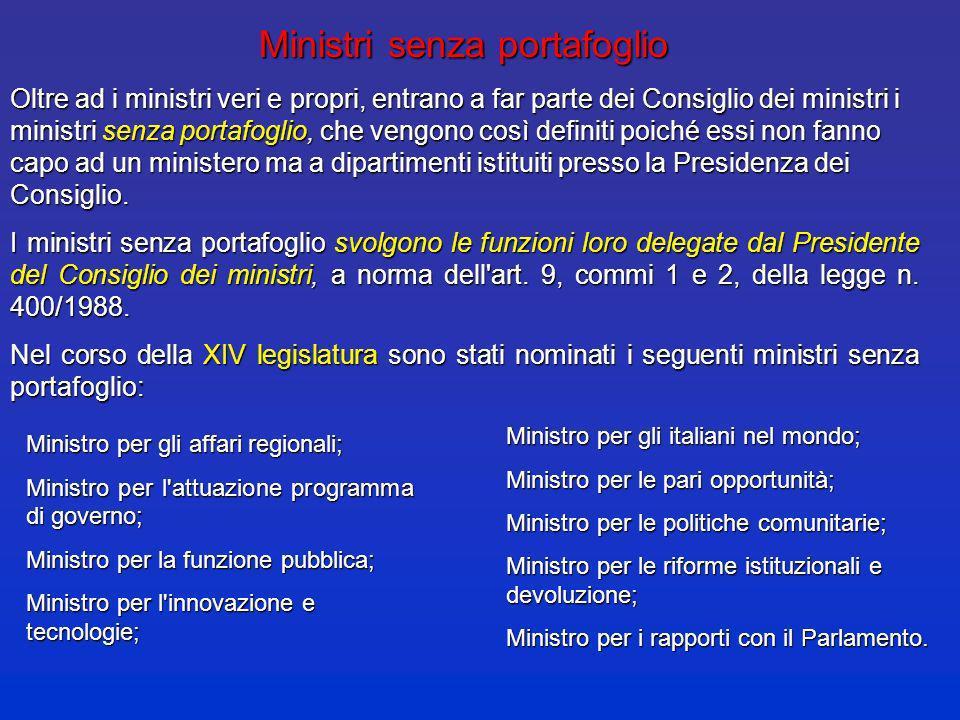 LO «SPACCHETTAMENTO» DEI MINISTERI LO «SPACCHETTAMENTO» DEI MINISTERI (GOVERNO PRODI, 2006) d.l. 181/2006, convertito in l. 233/2006 Oggi Ministero de