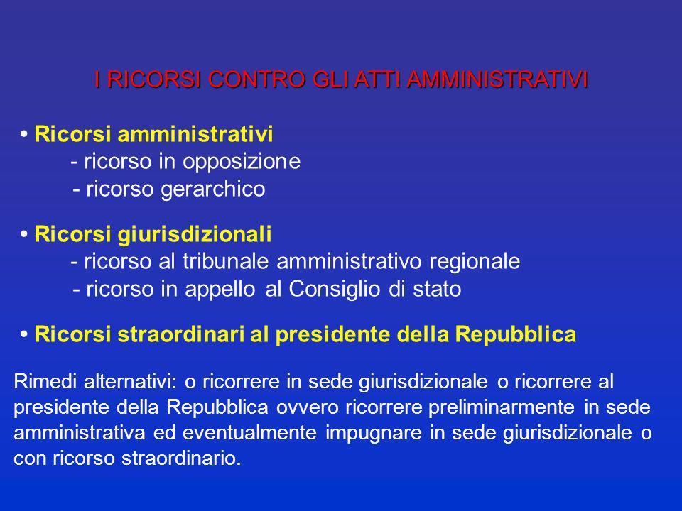 diritti soggettivi Competenza esclusiva del giudice amministrativo (diritti e interessi): nelle materie indicate dalla legge LA GIUSTIZIA AMMINISTRATI