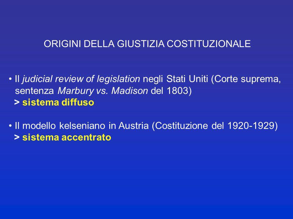 DEFINIZIONE DI GIUSTIZIA COSTITUZIONALE La funzione volta ad assicurare il rispetto delle norme della costituzione, attraverso la risoluzione in forma