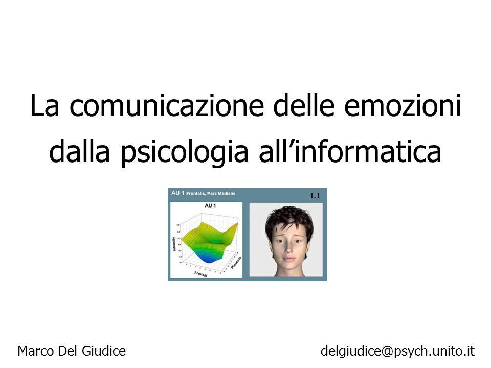 La comunicazione delle emozioni dalla psicologia allinformatica Marco Del Giudice delgiudice@psych.unito.it 1.1