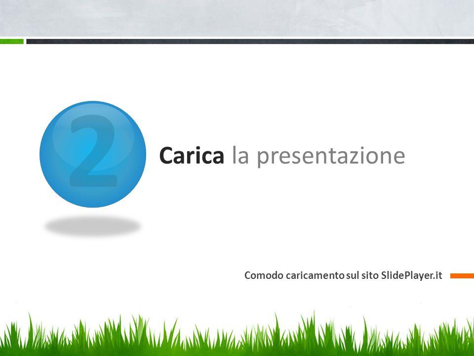 2 Carica la presentazione Comodo caricamento sul sito SlidePlayer.it