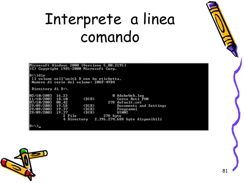 81 Interprete a linea comando