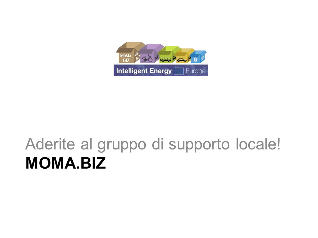 MoMa.Biz Mobility Management aree industriali e commerciali Introduzione al Progetto MoMa.Biz