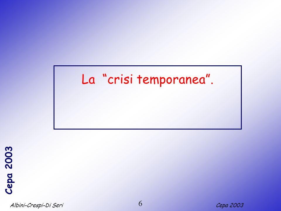 Albini-Crespi-Di SeriCepa 2003 7 1. La cassa integrazione guadagni ordinaria.