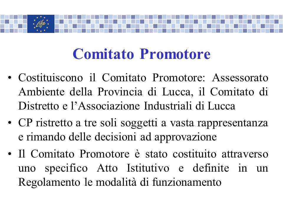 Comitato Promotore Costituiscono il Comitato Promotore: Assessorato Ambiente della Provincia di Lucca, il Comitato di Distretto e lAssociazione Indust