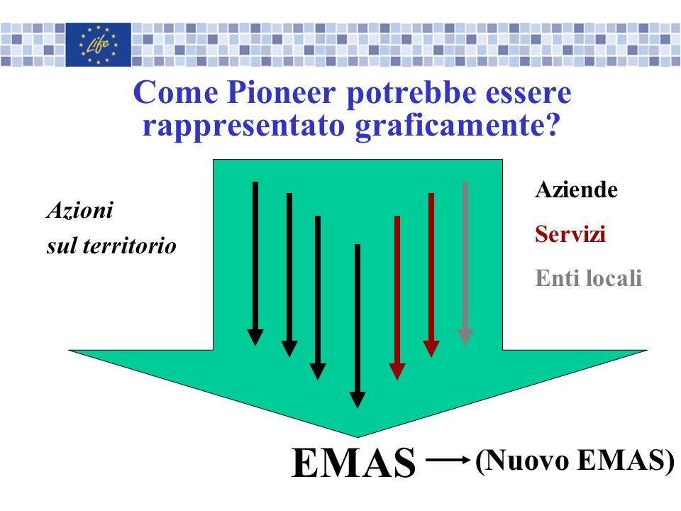 Come Pioneer potrebbe essere rappresentato graficamente? EMAS Azioni sul territorio Aziende Servizi Enti locali (Nuovo EMAS)