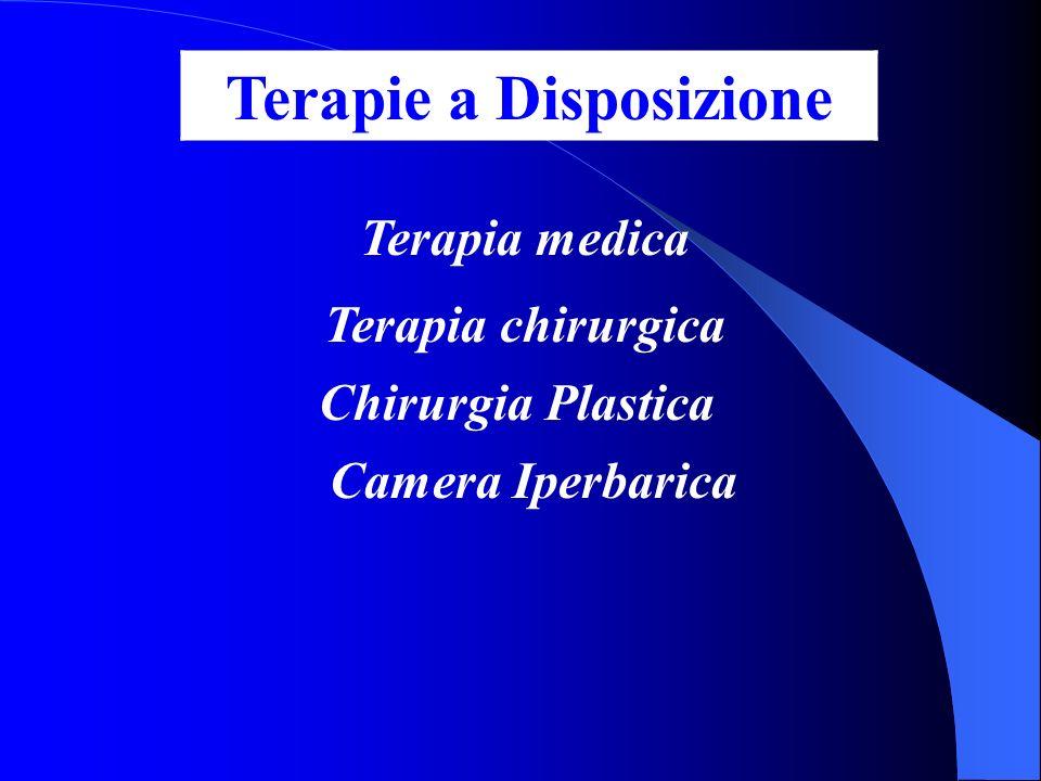 Terapia medica Terapia chirurgica Chirurgia Plastica Camera Iperbarica Terapie a Disposizione