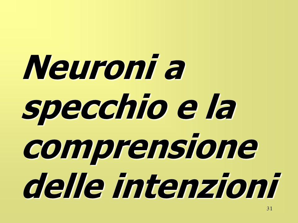 31 Neuroni a specchio e la comprensione delle intenzioni