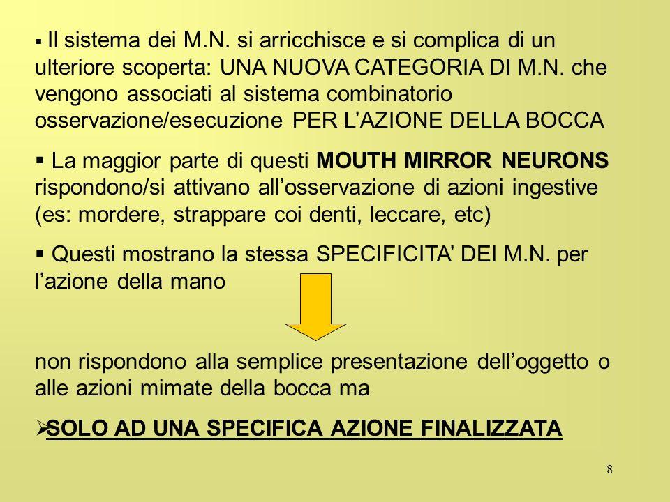 8 Il sistema dei M.N. si arricchisce e si complica di un ulteriore scoperta: UNA NUOVA CATEGORIA DI M.N. che vengono associati al sistema combinatorio