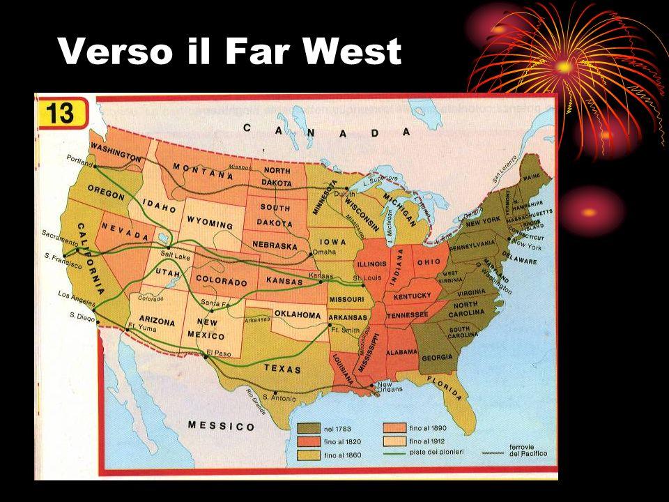 Contrasti Nord-Sud 1820: Compromesso del Missouri abolizione dello schiavismo a Nord del 36° parallelo 1859: Rivolta degli abolizionisti in Virginia John Brown cercava di portare gli schiavi alla rivolta, ma invano Catturato venne condannato a morte Aumentano le tensioni Nord-Sud