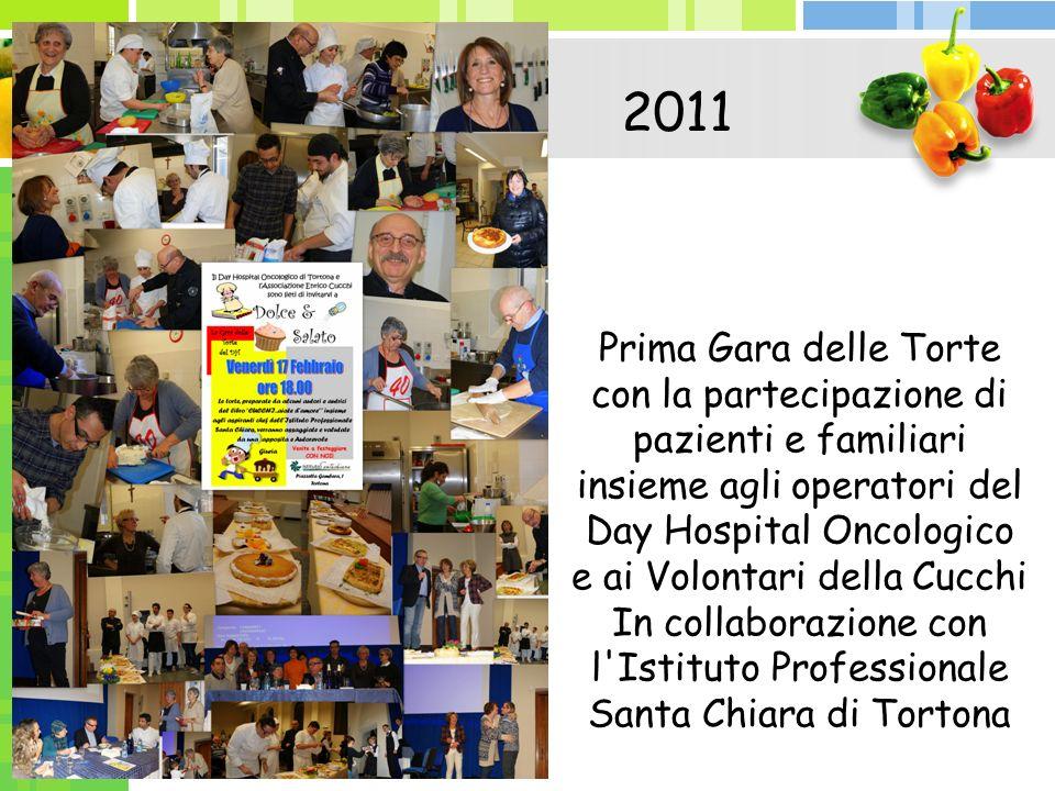 Prima Gara delle Torte con la partecipazione di pazienti e familiari insieme agli operatori del Day Hospital Oncologico e ai Volontari della Cucchi In