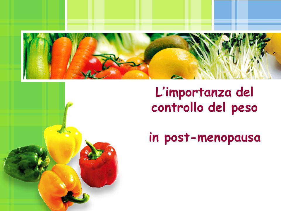 L/O/G/O Limportanza del controllo del peso in post-menopausa