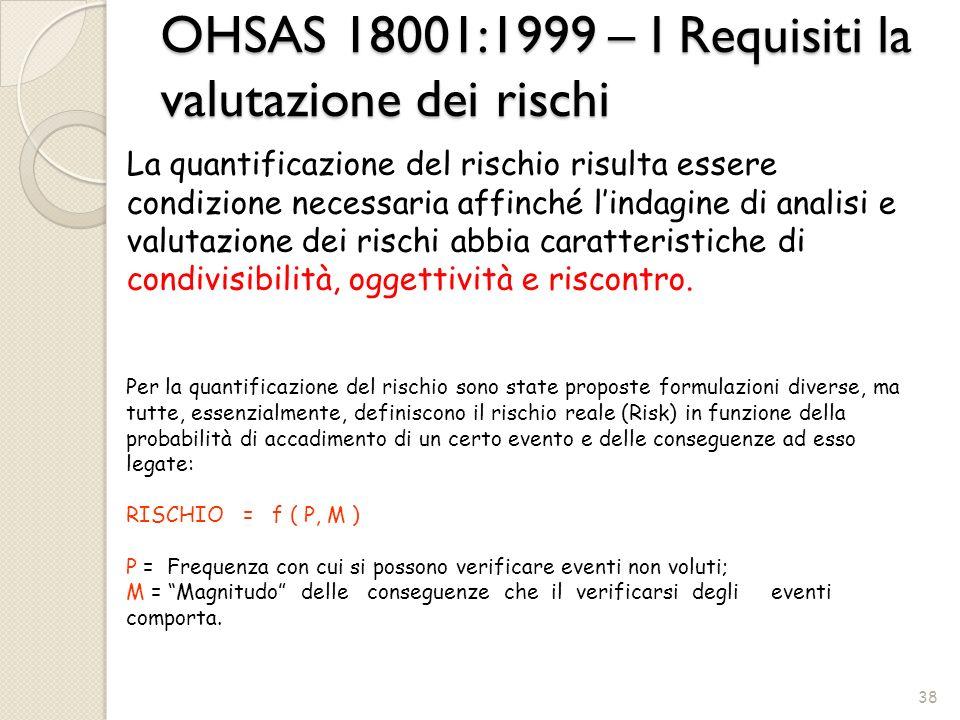 La quantificazione del rischio risulta essere condizione necessaria affinché lindagine di analisi e valutazione dei rischi abbia caratteristiche di co
