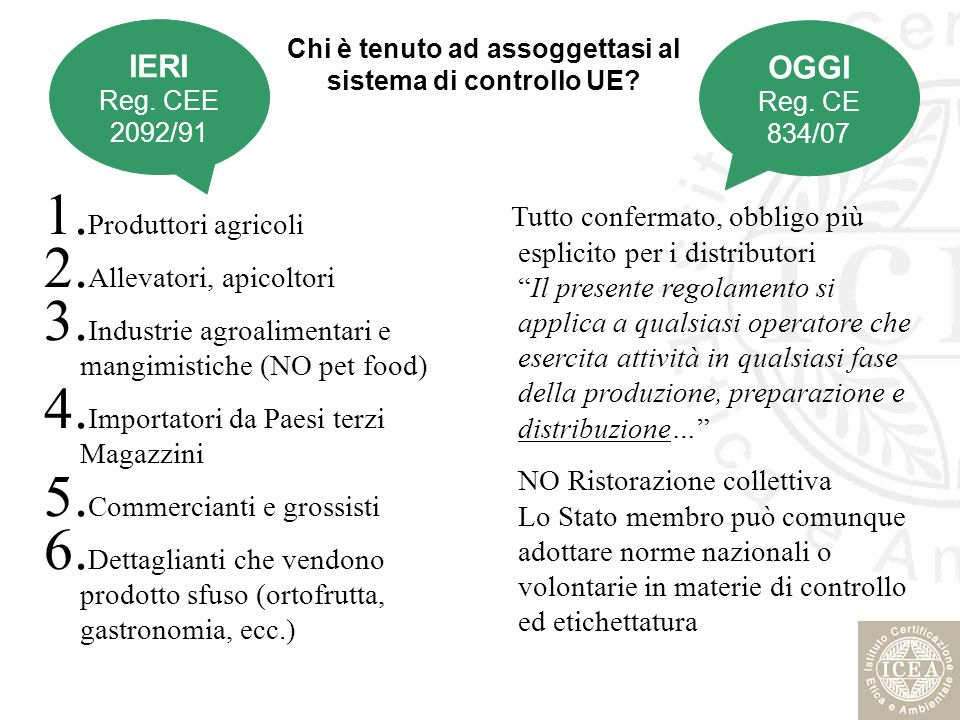 Misure transitorie… Fino al 1 luglio 2010 gli operatori possono continuare ad utilizzare, ai fini dell etichettatura, le disposizioni previste dal regolamento (CEE) n.