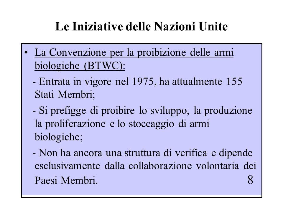 Lattività della Conferenza di Disarmo di Ginevra Istituita dalle Nazioni Unite nel 1978 costituisce attualmente il foro principale di discussione e di negoziazione in materia di disarmo multilaterale.