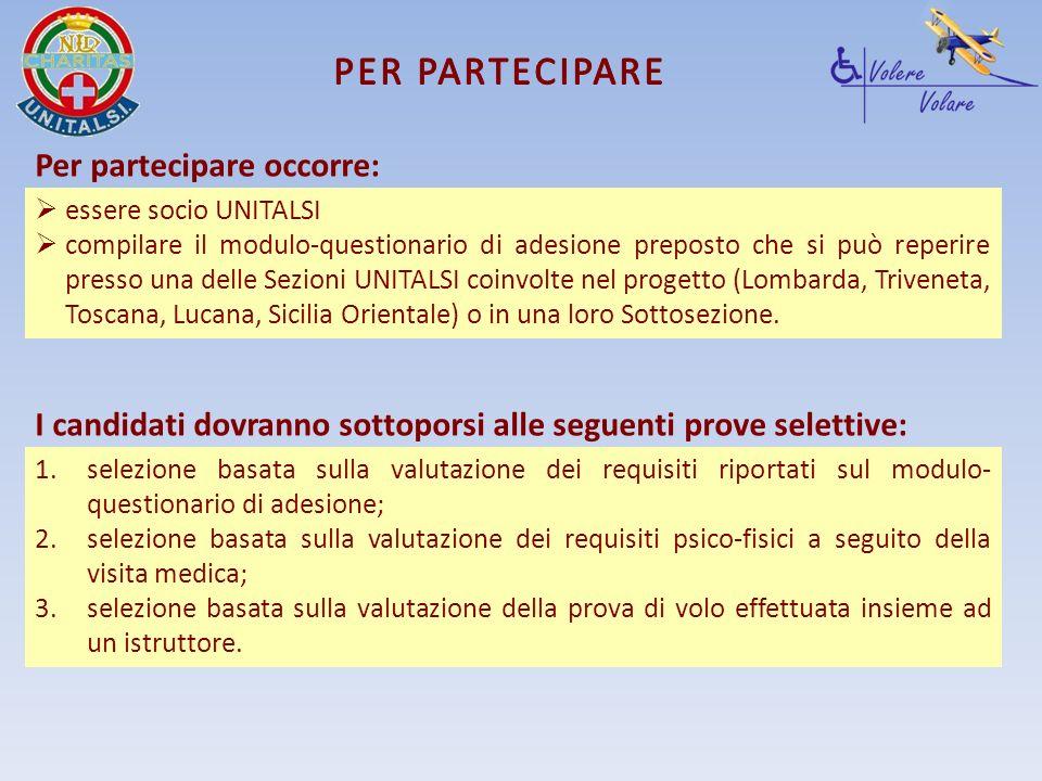 Per partecipare occorre: essere socio UNITALSI compilare il modulo-questionario di adesione preposto che si può reperire presso una delle Sezioni UNIT