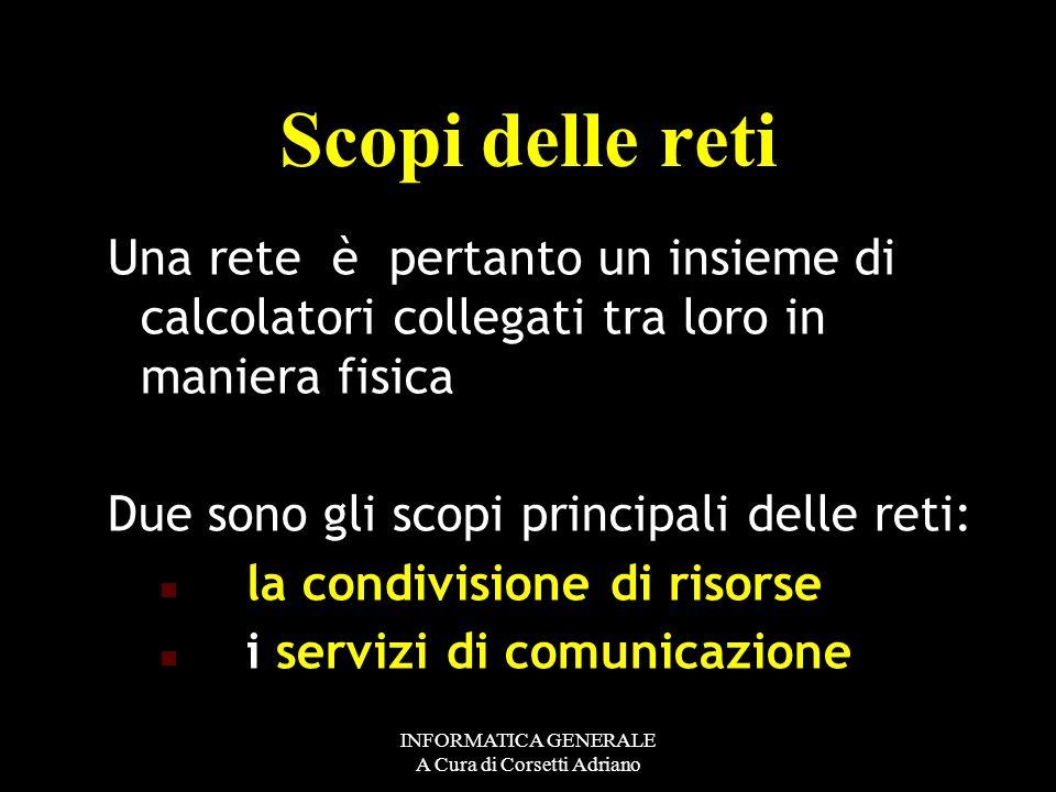 INFORMATICA GENERALE A Cura di Corsetti Adriano onodirezionali, monodirezionali, come la televisione – che permette solo di ricevere informazioni – In