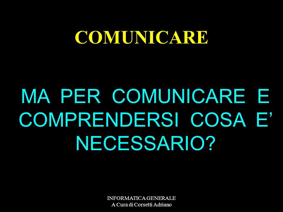 INFORMATICA GENERALE A Cura di Corsetti Adriano - posta elettronica - chat (testuale, audio - video-messaggistica istantanea - spazi di lavoro condivi