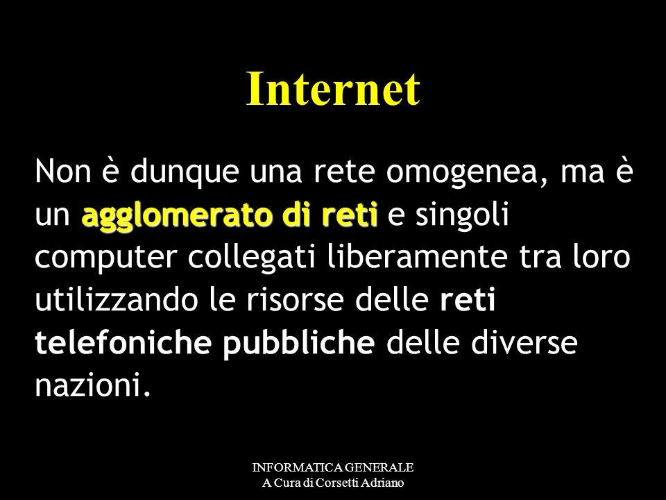 INFORMATICA GENERALE A Cura di Corsetti Adriano Interconnected Networks