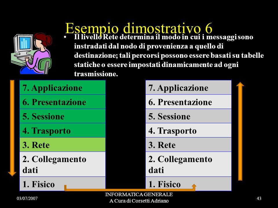 INFORMATICA GENERALE A Cura di Corsetti Adriano Il livello Trasporto ha il compito di ridurre gli effetti negativi dei servizi offerti dallo strato di
