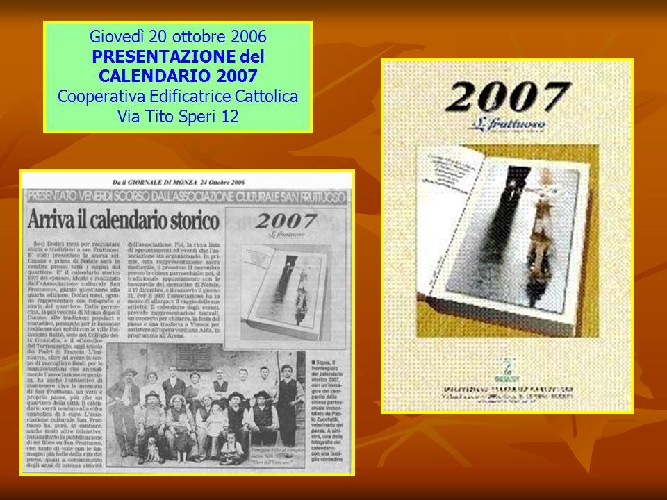 Riflessioni sulla nostra Associazione Alcuni eventi proposti nel 2007 Manifesto 5° edizione Un Paese in Festa 2007 Come mettervi in contatto con noi