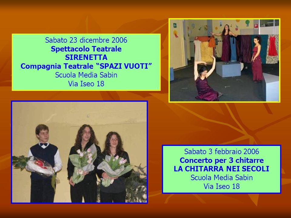 Domenica 17 dicembre 2006 2° MERCATINO di NATALE Via San Fruttuoso Giovedì 14 dicembre 2006 Concerto di Natale QUINTETTO PAUL KLEE Sala della Circoscr