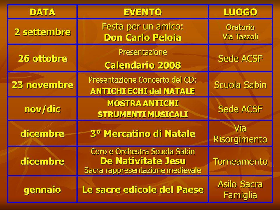 Domenica 10 giugno 2007 3° FIERA DELLA CREATIVITA LOCALE Via Risorgimento Domenica 10 giugno 2007 Spettacolo teatrale TRE SULLALTALENA COMPAGNIA DIETR