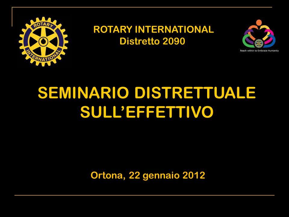ROTARY INTERNATIONAL Distretto 2090 1) Situazione del Club alla nascita (n.