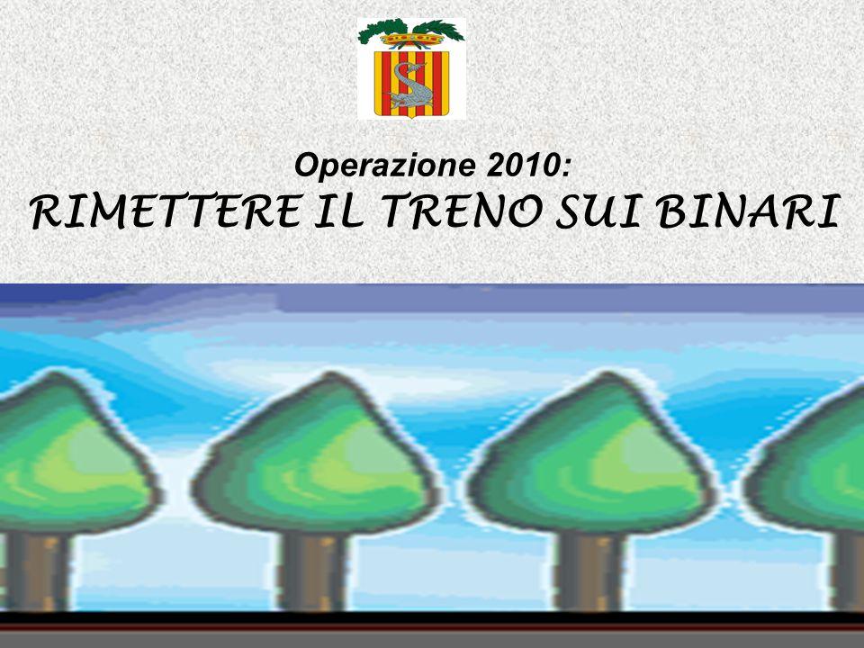 Operazione 2010: RIMETTERE IL TRENO SUI BINARI