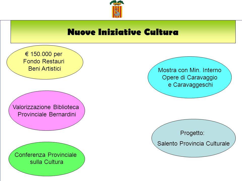 Nuove Iniziative Cultura 150.000 per Fondo Restauri Beni Artistici Mostra con Min.