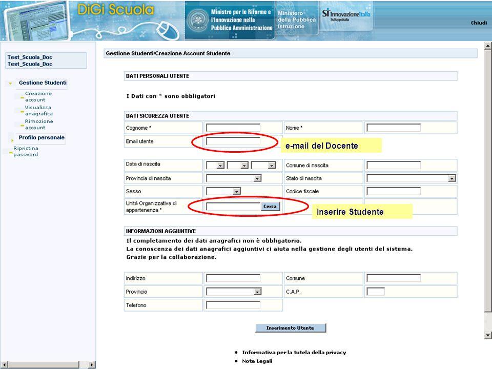 http://www.digiscuola.it e-mail del Docente Inserire Studente