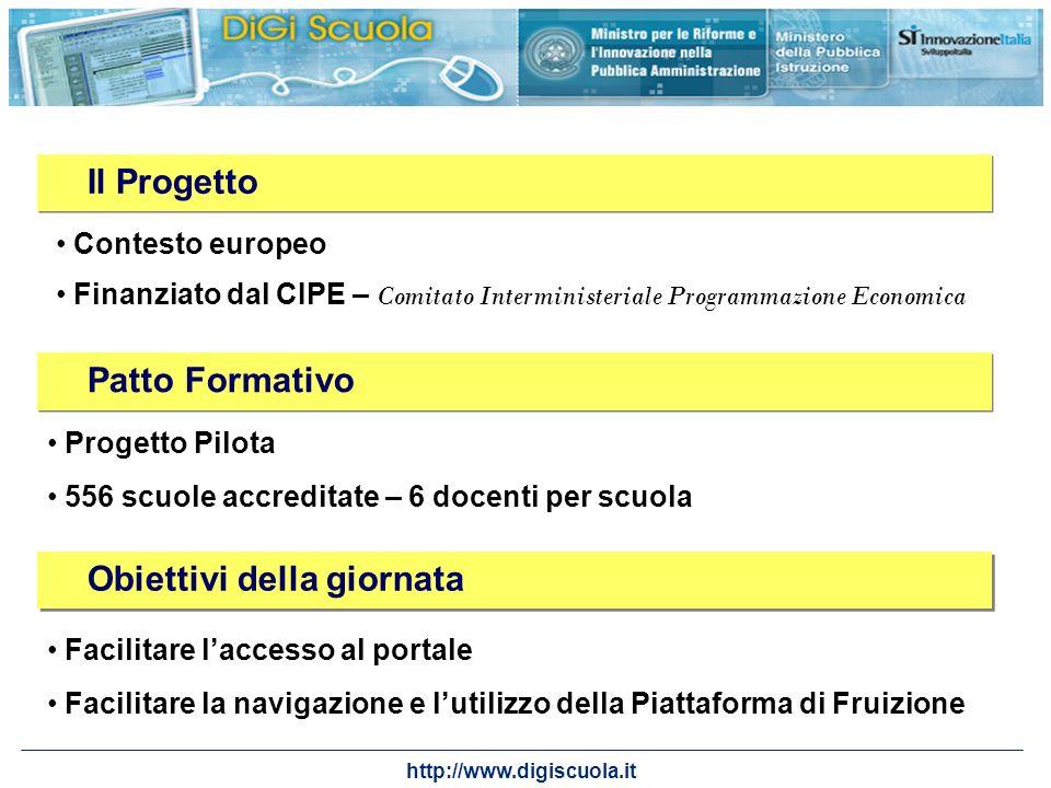 http://www.digiscuola.it Obiettivi della giornata Facilitare laccesso al portale Facilitare la navigazione e lutilizzo della Piattaforma di Fruizione
