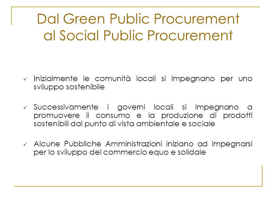 Inizialmente le comunità locali si impegnano per uno sviluppo sostenibile Successivamente i governi locali si impegnano a promuovere il consumo e la p