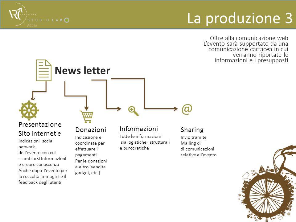 Oltre alla comunicazione web Levento sarà supportato da una comunicazione cartacea in cui verranno riportate le informazioni e i presupposti News lett