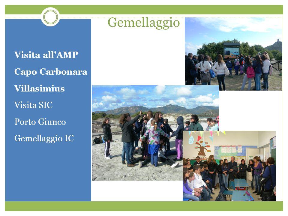 Gemellaggio Visita allAMP Capo Carbonara Villasimius Visita SIC Porto Giunco Gemellaggio IC