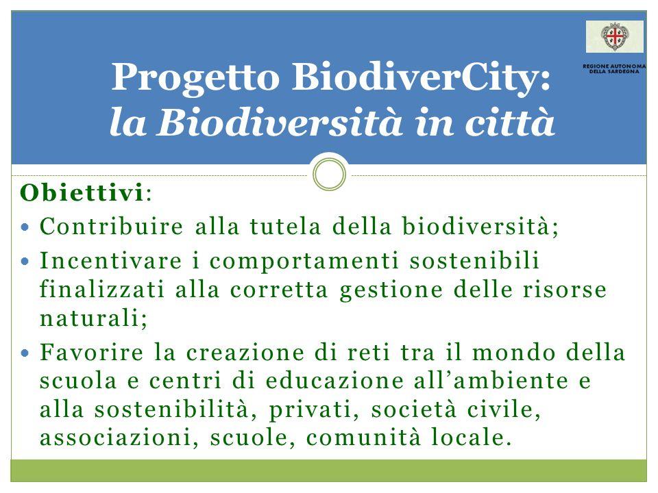 Obiettivi: Contribuire alla tutela della biodiversità; Incentivare i comportamenti sostenibili finalizzati alla corretta gestione delle risorse natura