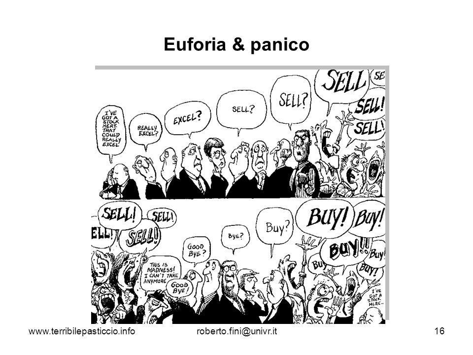 www.terribilepasticcio.inforoberto.fini@univr.it16 Euforia & panico