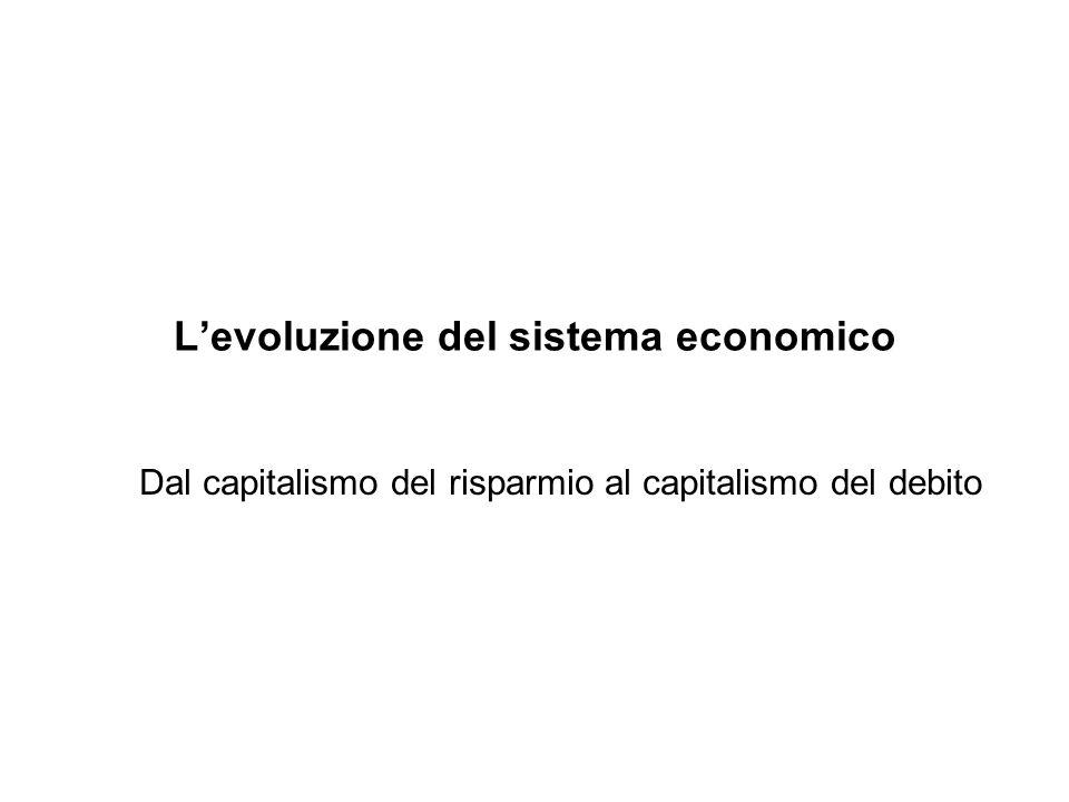 Levoluzione del sistema economico Dal capitalismo del risparmio al capitalismo del debito