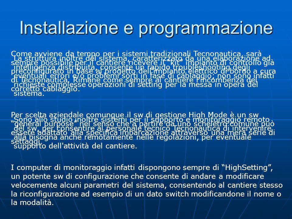 Sistema Multiposizione Il sistema di monitoraggio High Mode può essere espanso sino ad un massimo di quattro postazioni diverse per il controllo dell'