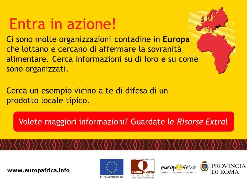 www.europafrica.info Ci sono molte organizzazioni contadine in Europa che lottano e cercano di affermare la sovranità alimentare. Cerca informazioni s