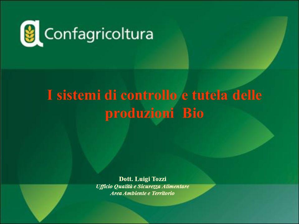 I sistemi di controllo e tutela delle produzioni Bio Dott. Luigi Tozzi Ufficio Qualità e Sicurezza Alimentare Area Ambiente e Territorio